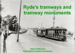 Ryde's tramways and tramway monuments